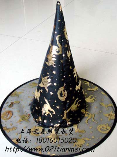 万圣节女巫披风尖帽子
