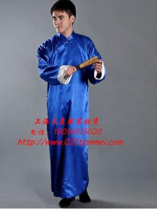 蓝色民国长衫|学生装|相声服