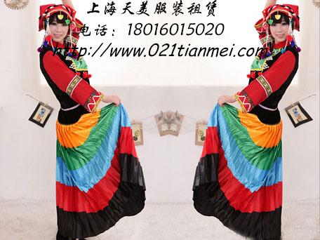 彝族舞蹈服装彩虹裙|大裙摆民族服装